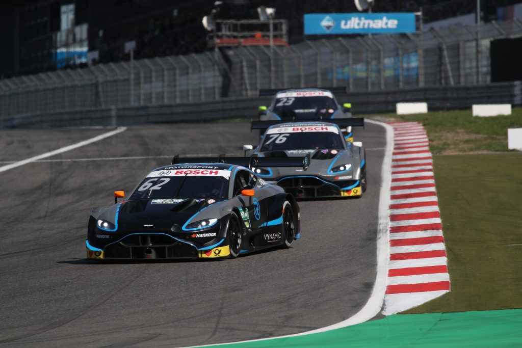 Habsburg sets the pace of the Aston Martins at the Nürburgring